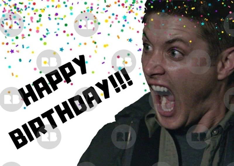 Supernatural Birthday Card Dean Birthday Card Meme Greeting Cards Greeting Card By Willow Days Supernatural Birthday Funny Birthday Cards Happy Birthday