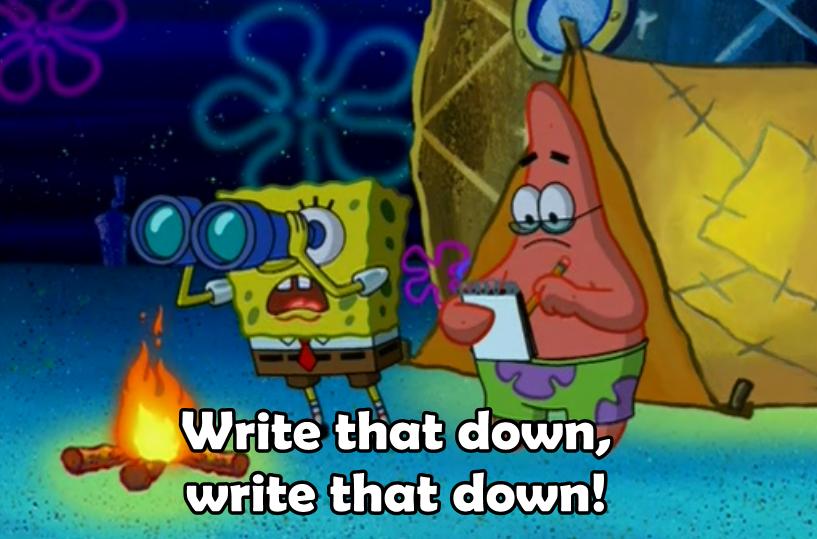 spongebob spongebob squarepants the camping episode season 3 patrick