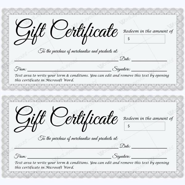 Certificate templates you can edit choice image certificate beautiful formal gift certificate template in silver beautiful formal gift certificate template in silver giftcertificate giftcard yelopaper Gallery