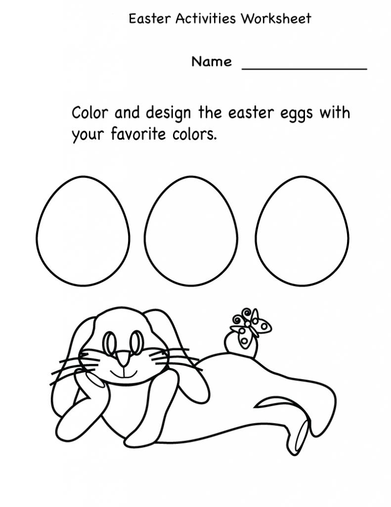 Printable Easter Activities Best Coloring Pages For Kids Easter Worksheets Printable Easter Activities Easter Kindergarten [ 1024 x 791 Pixel ]