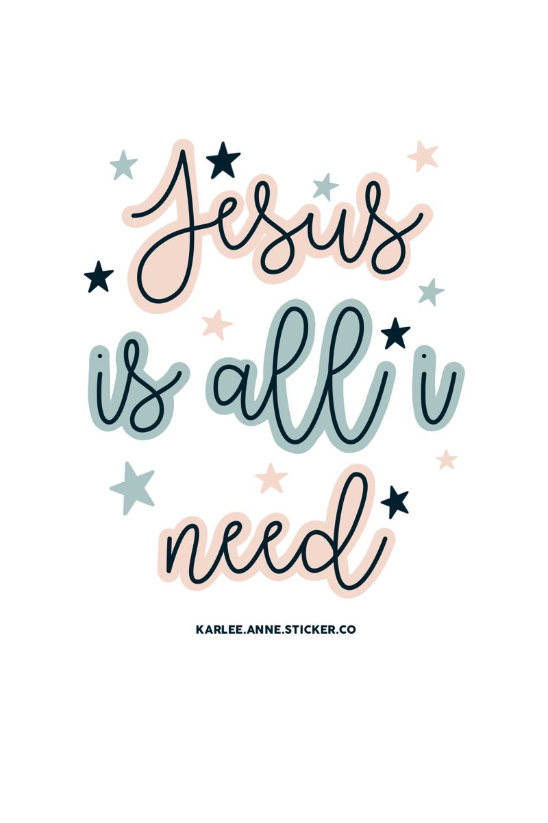 Jesus is all I need  phone wallpaper