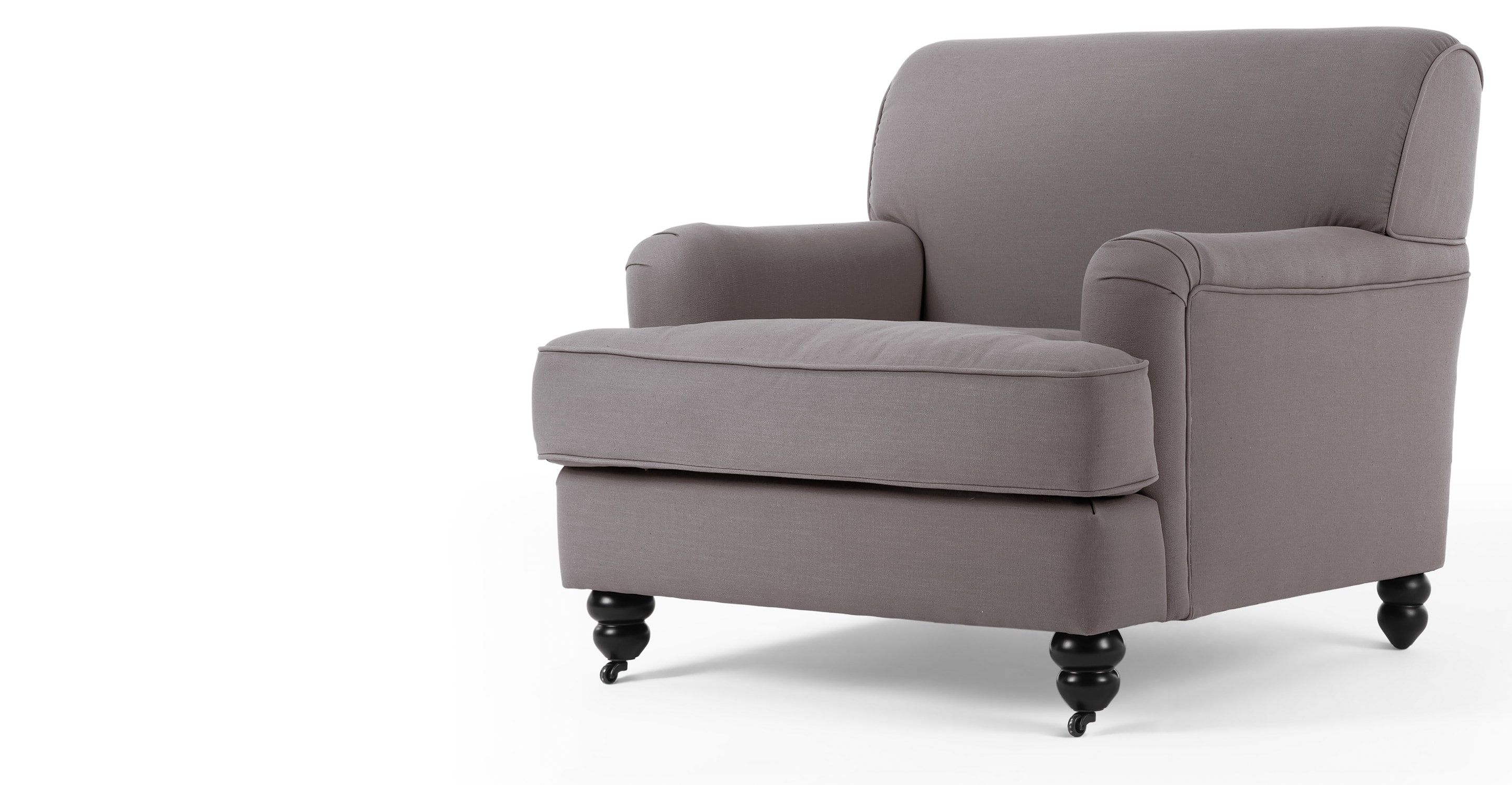 Modelled On Traditional English Design Yet With A Contemporary Feel, This  Elegant Grey Orson Armchair