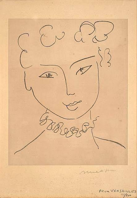 Henri Matisse - La Pompadour, 1951.