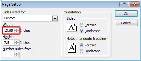 Change Presentation Aspect Ratio from Standard to Widescreen in #PowerPoint 2010 for Windows