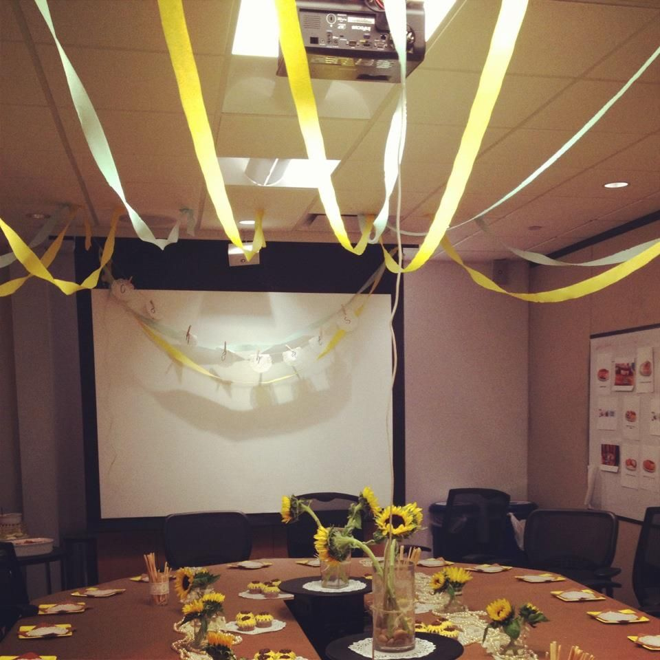 ways to decorate for an office bridal shower