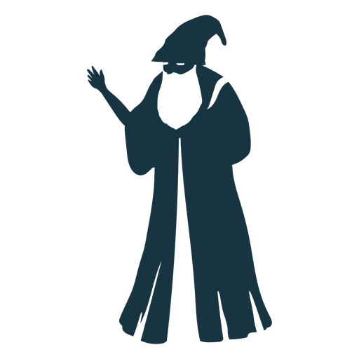 Old Man Sorcerer Wizard Cap Robe Beard Detailed Silhouette Ad Affiliate Ad Wizard Sorcerer Detailed Cap Sorcerer Old Men Silhouette Png
