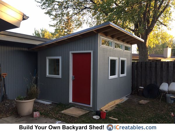 10x12 Modern Shed S3 style from iCreatablescom Owners Shed