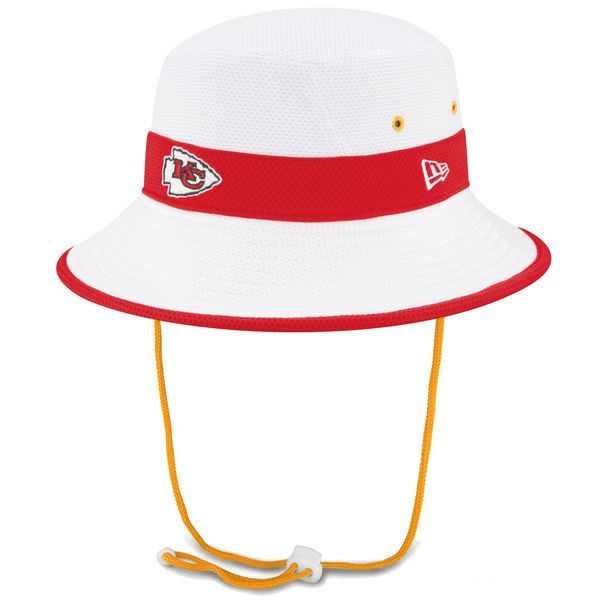 Kansas City Chiefs On Field Training Camp Bucket Hat - White by New ... 06b8fc2c0