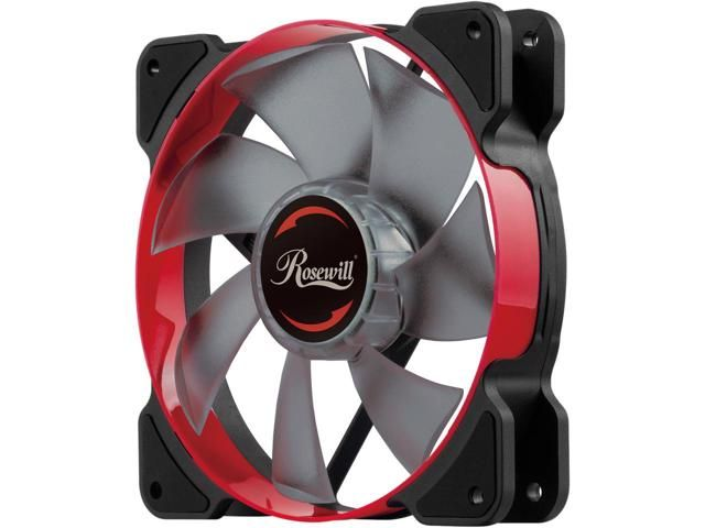 Rosewill 120mm Case Fan With Red Led And Pwm Pulse Width