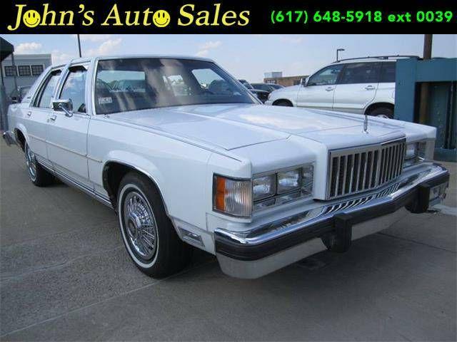 1985 Mercury Grand Marquis Ls 4dr Sedan White Grand Marquis Edsel Ford Sedan