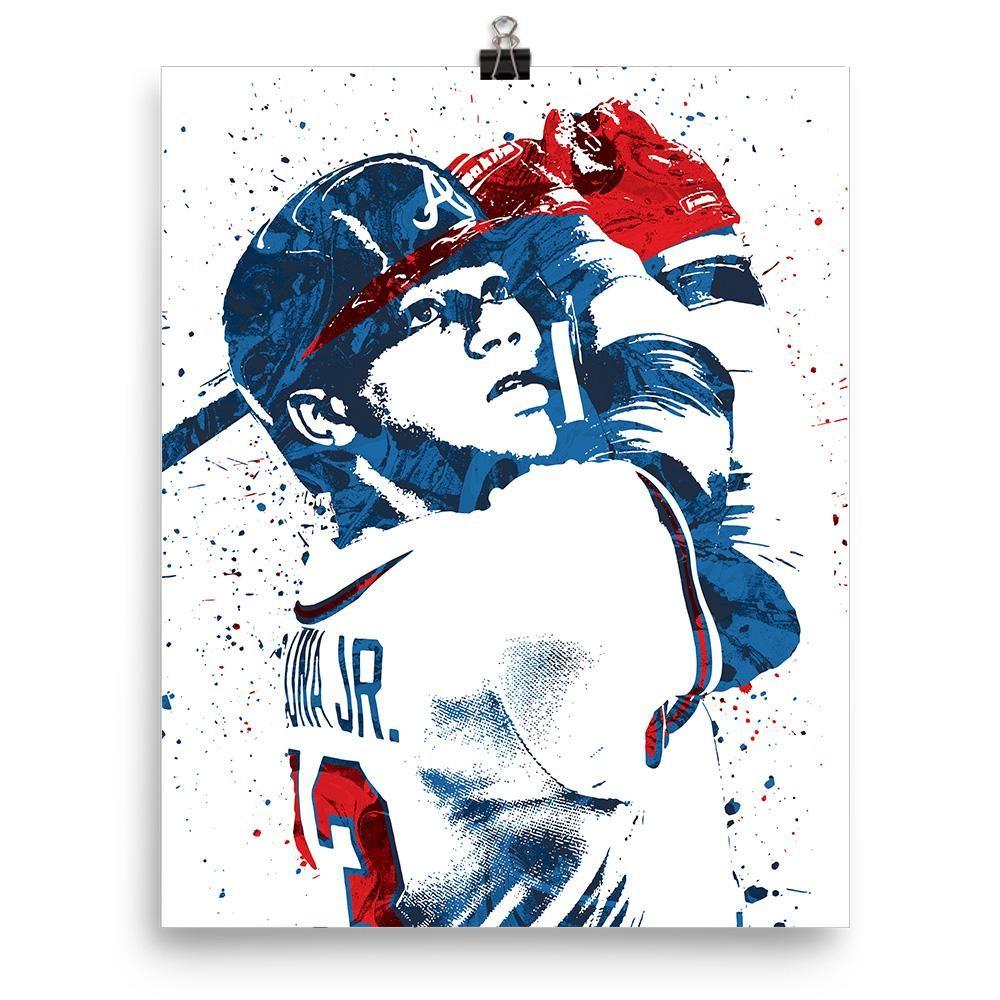 Ronald Acuna Jr Atlanta Braves Poster Sports Art Print Atlanta Braves Braves