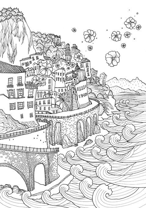 Coloring Europe : Bella Italia I Waves of Color: | Coloring Pages ...