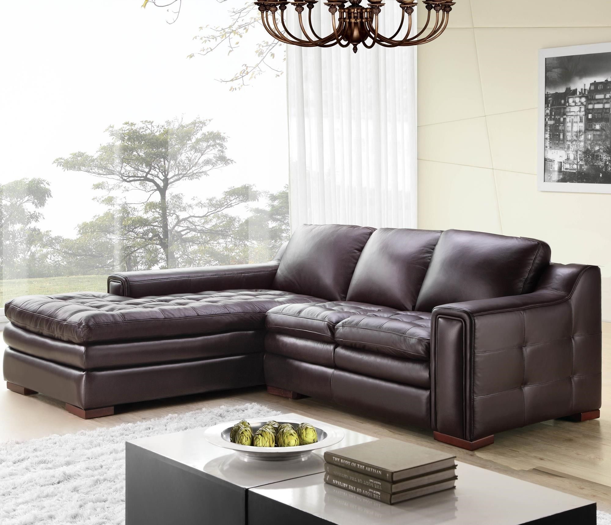 7491 2 Pce Brahma Sectional By Futura Leather At Stoney Creek Furniture