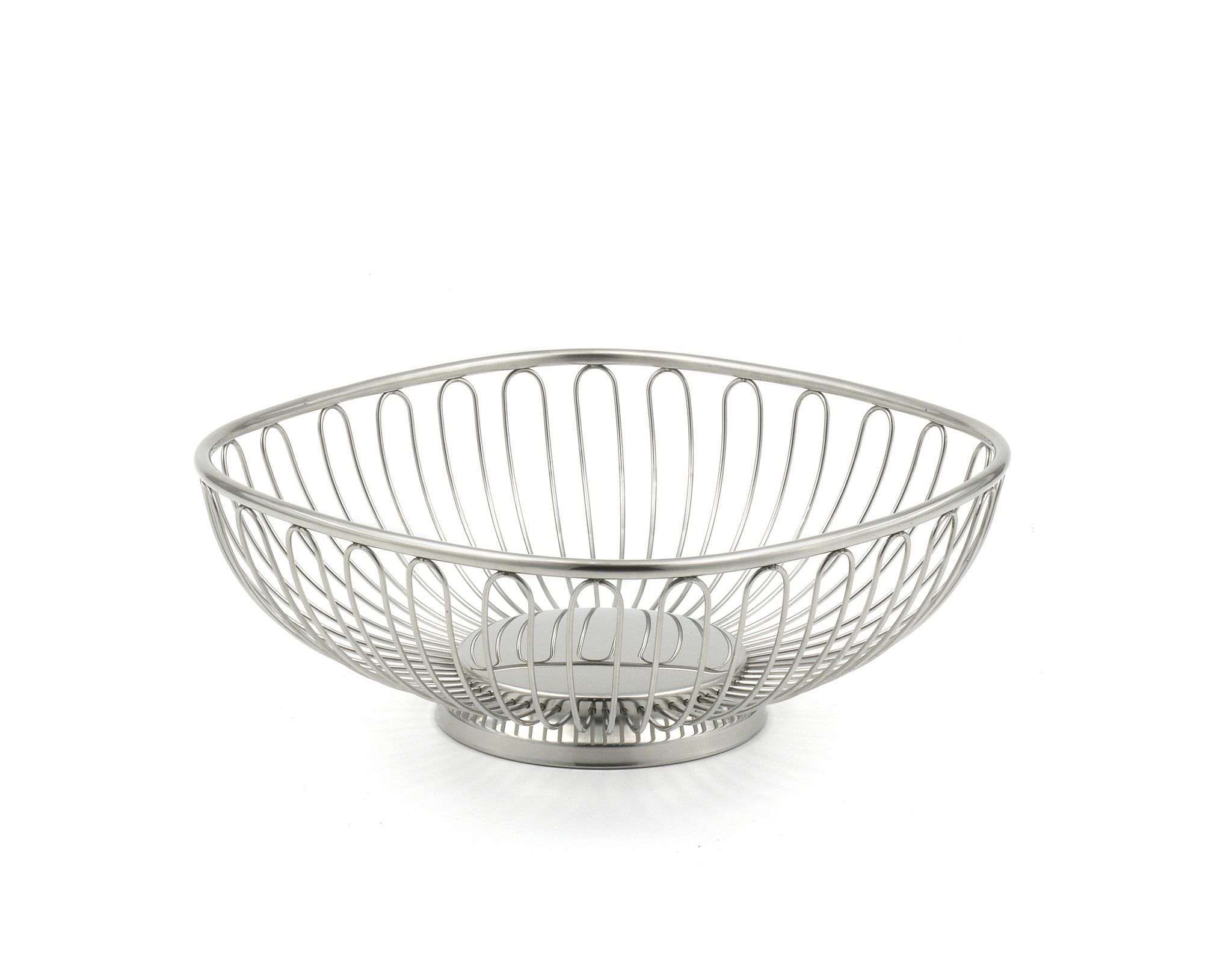 StainlessLUX 76303 Small Square Stainless Steel Wire Basket / Fruit ...