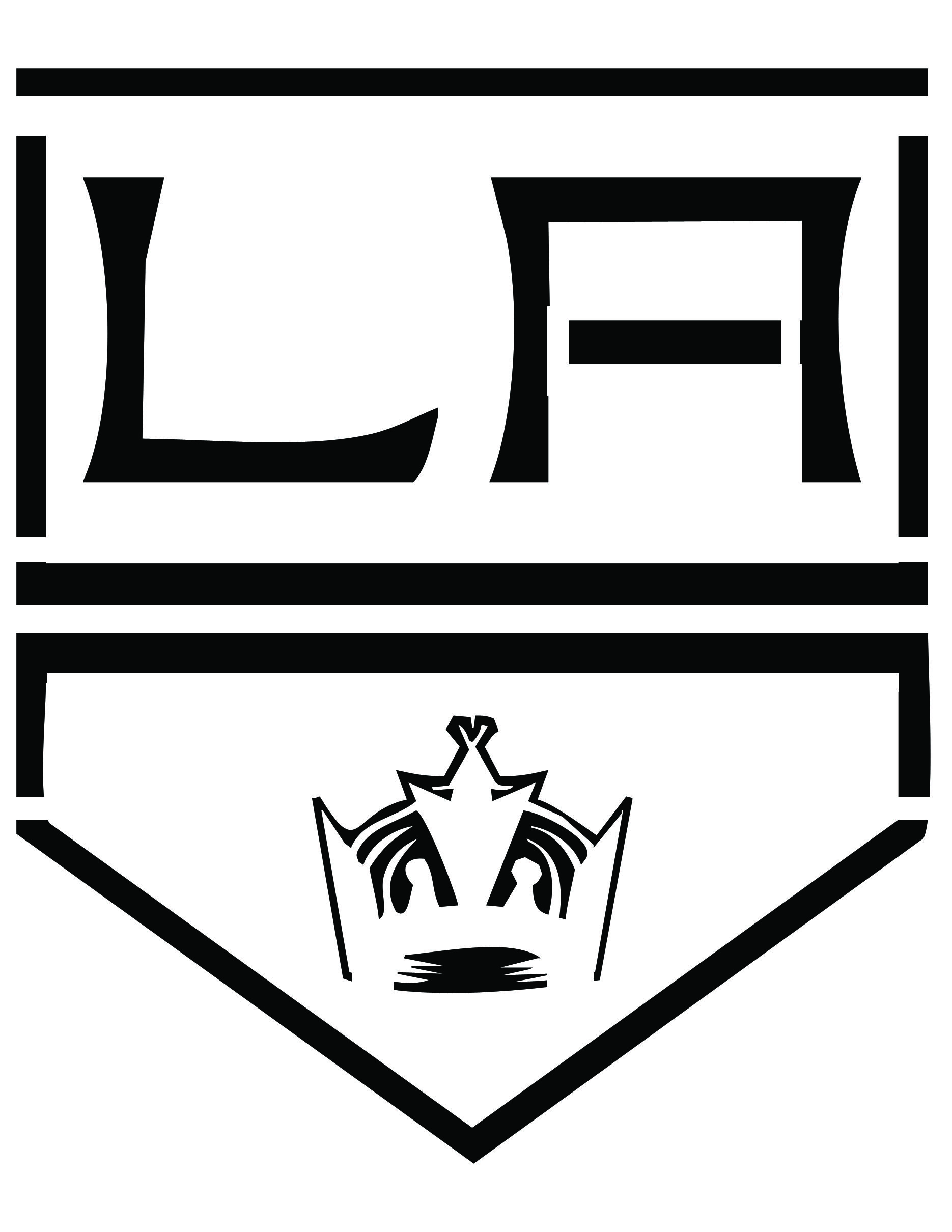 LA KINGS PLATE STENCIL | Kings Logos | Pinterest | Halloween pumpkin ...