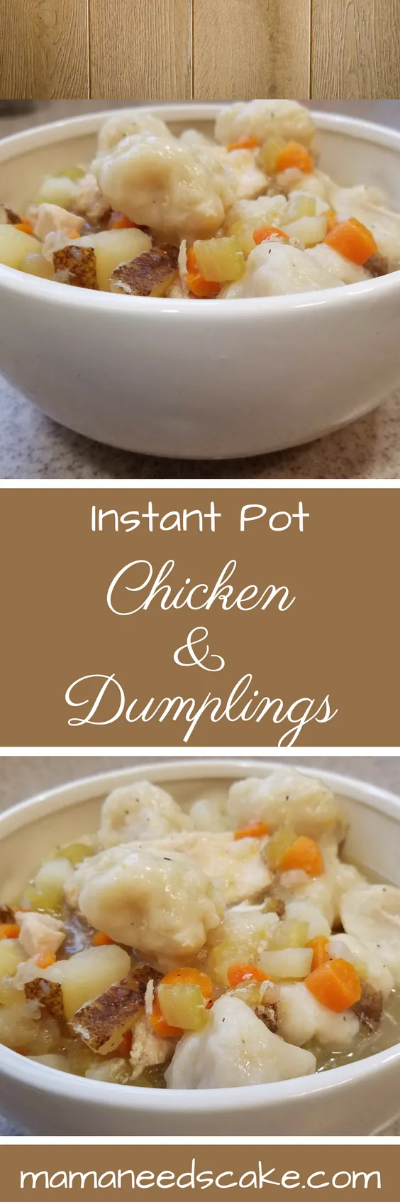 Instant Pot Chicken & Dumplings - Pressure Cooker - Mama Needs Cake