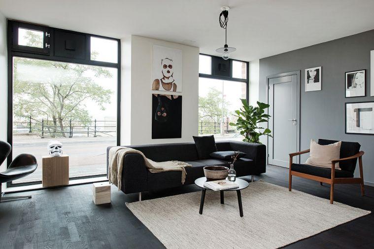 Huis vol met zwart wit en grijstinten home