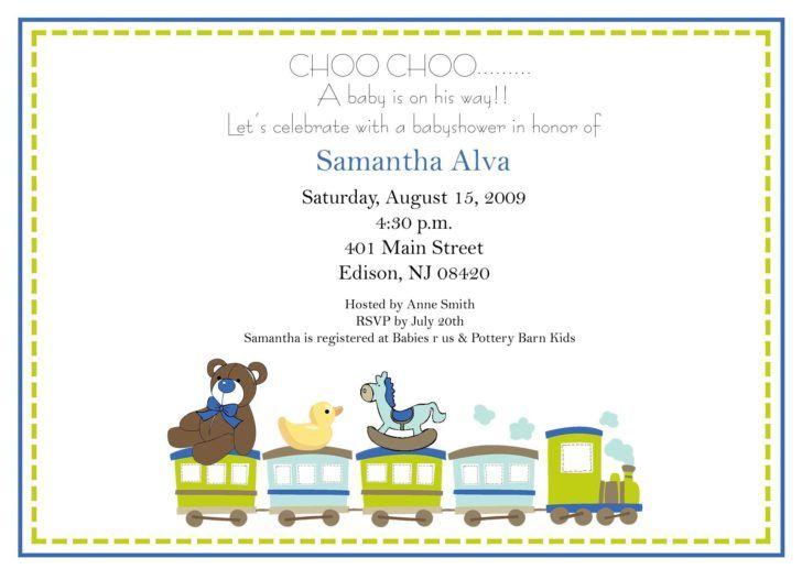 Choo Choo Baby Shower Invitation Wording Cute Animals and Train - baby shower invitation words