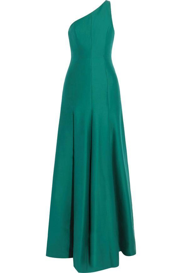 29f551664e5c HALSTON HERITAGE One-shoulder cotton and silk-blend gown | wear ...