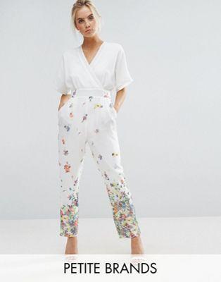b34a03a70593 Uttam Boutique Petite Jumpsuit In Floral Print