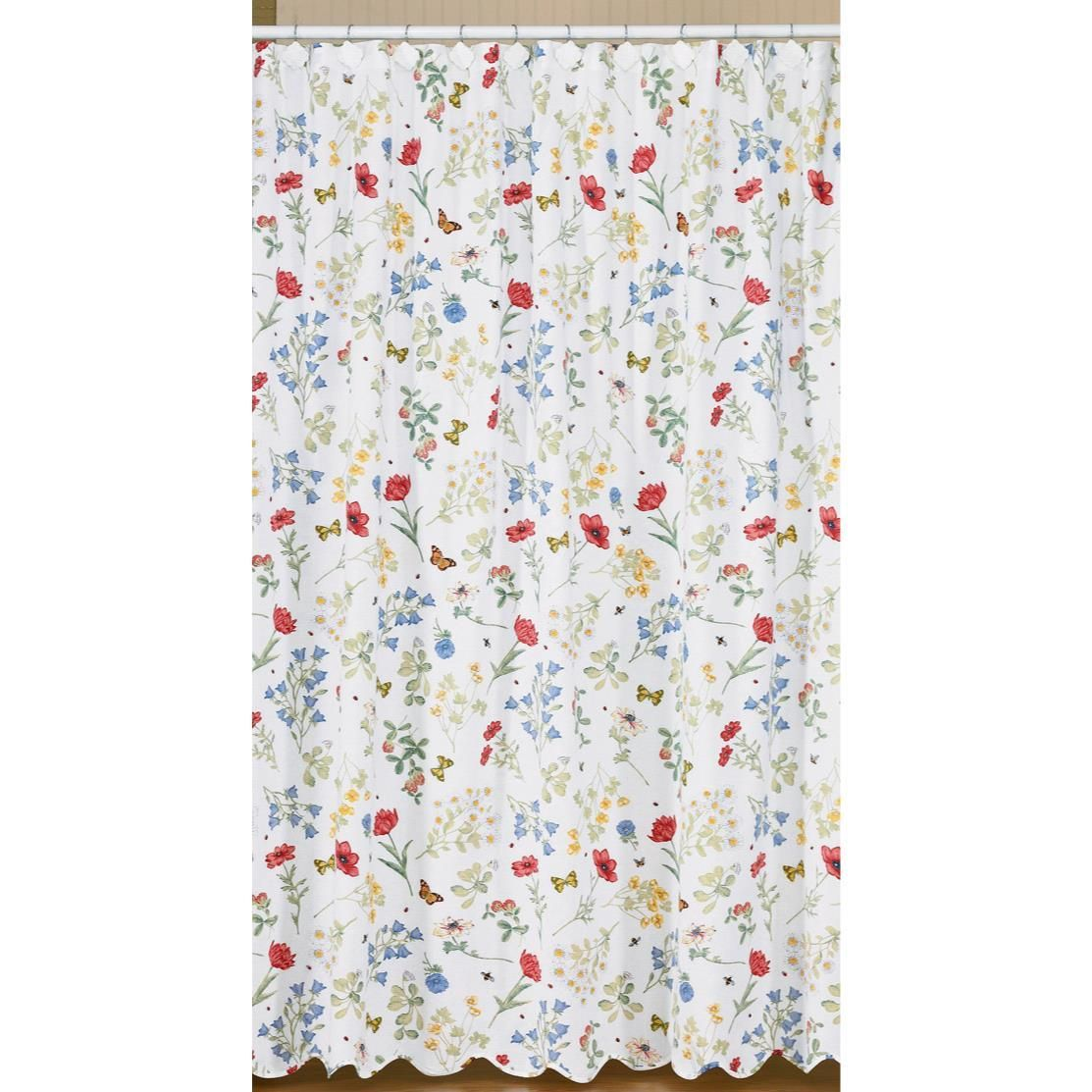 Country Village Shoppe Wildflower Shower Curtain 72x72 68 95