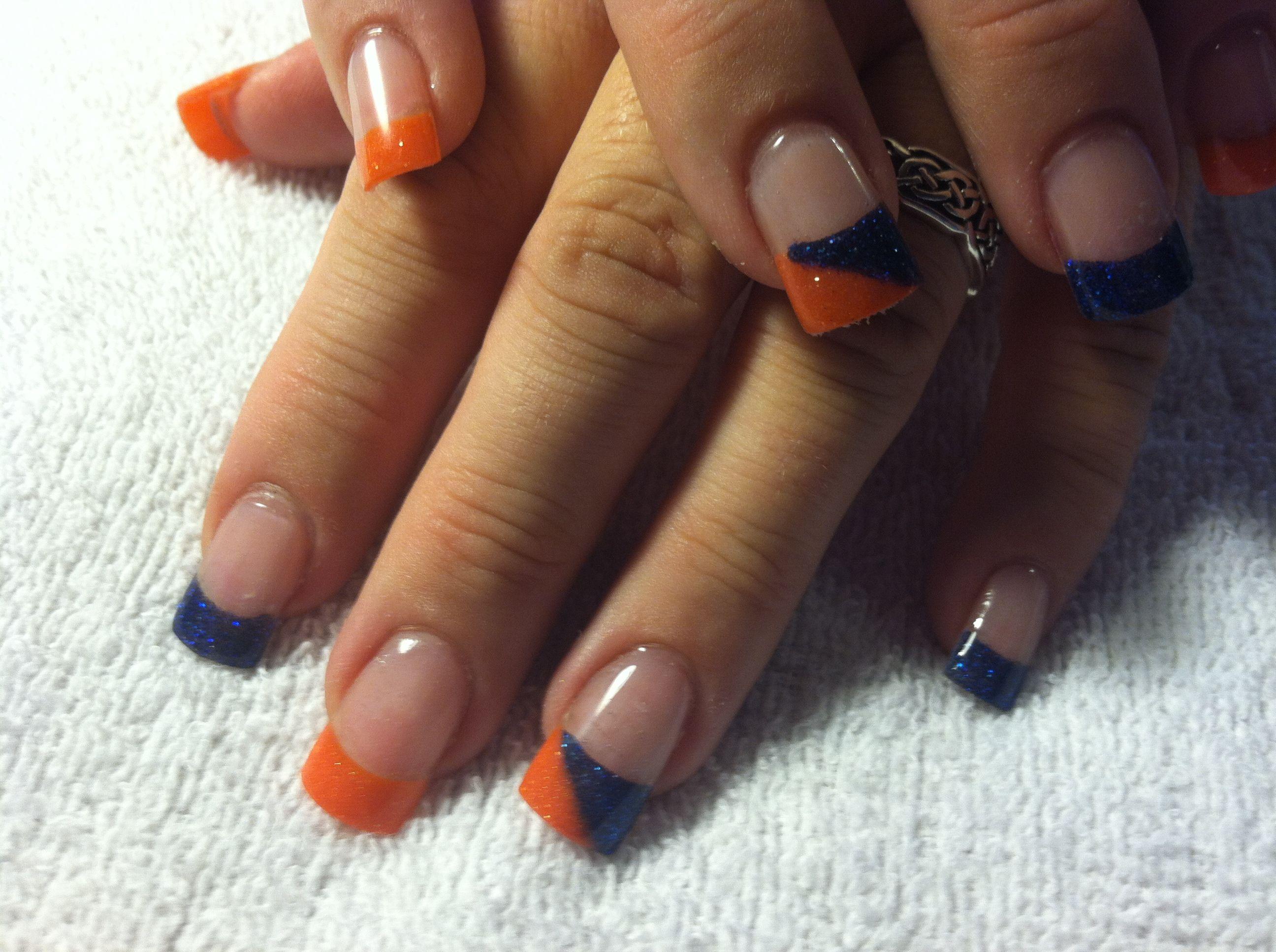Acrylic Denver Bronco nails. | Nails by LYSA! | Pinterest | Denver ...