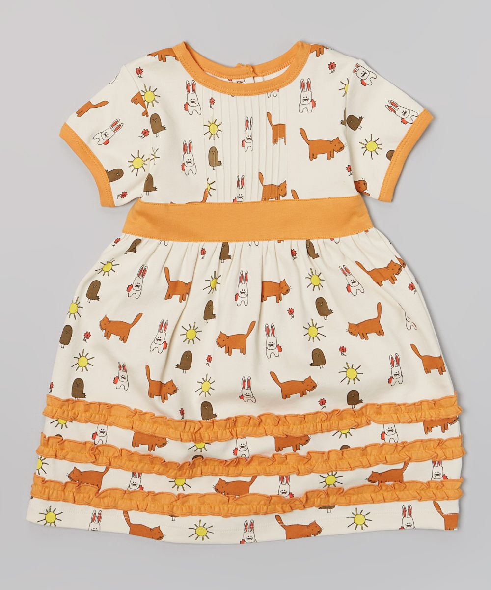 60b2ee53302 organic kitty dress for todlers girls - adorable! Baby Kids Clothes