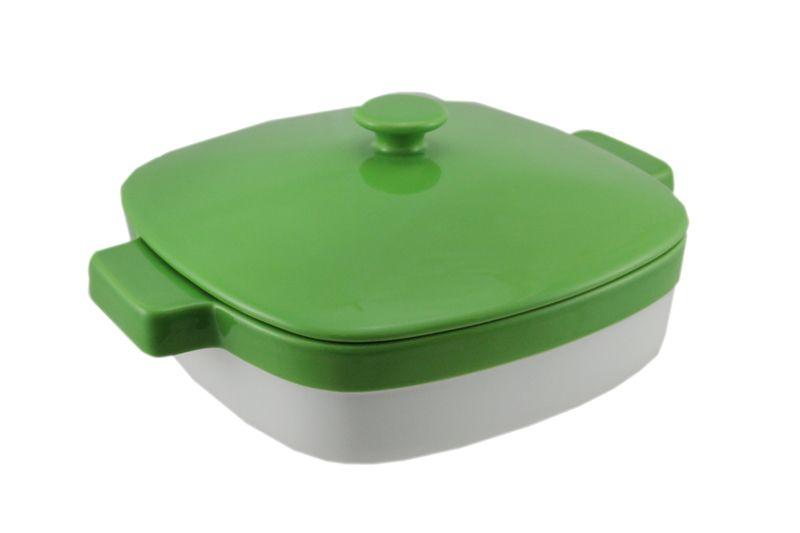 Kitchenaid green and white 19 quart covered ceramic