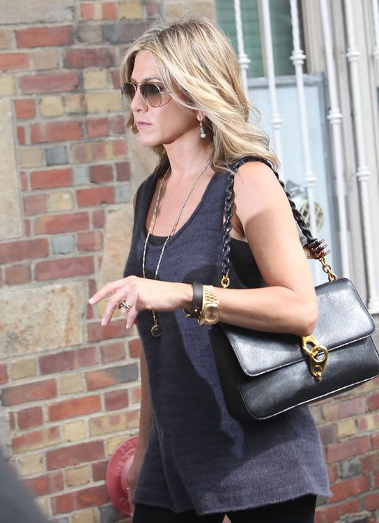 Jennifer Aniston Gold Clasp Carine Bag By Tom Ford