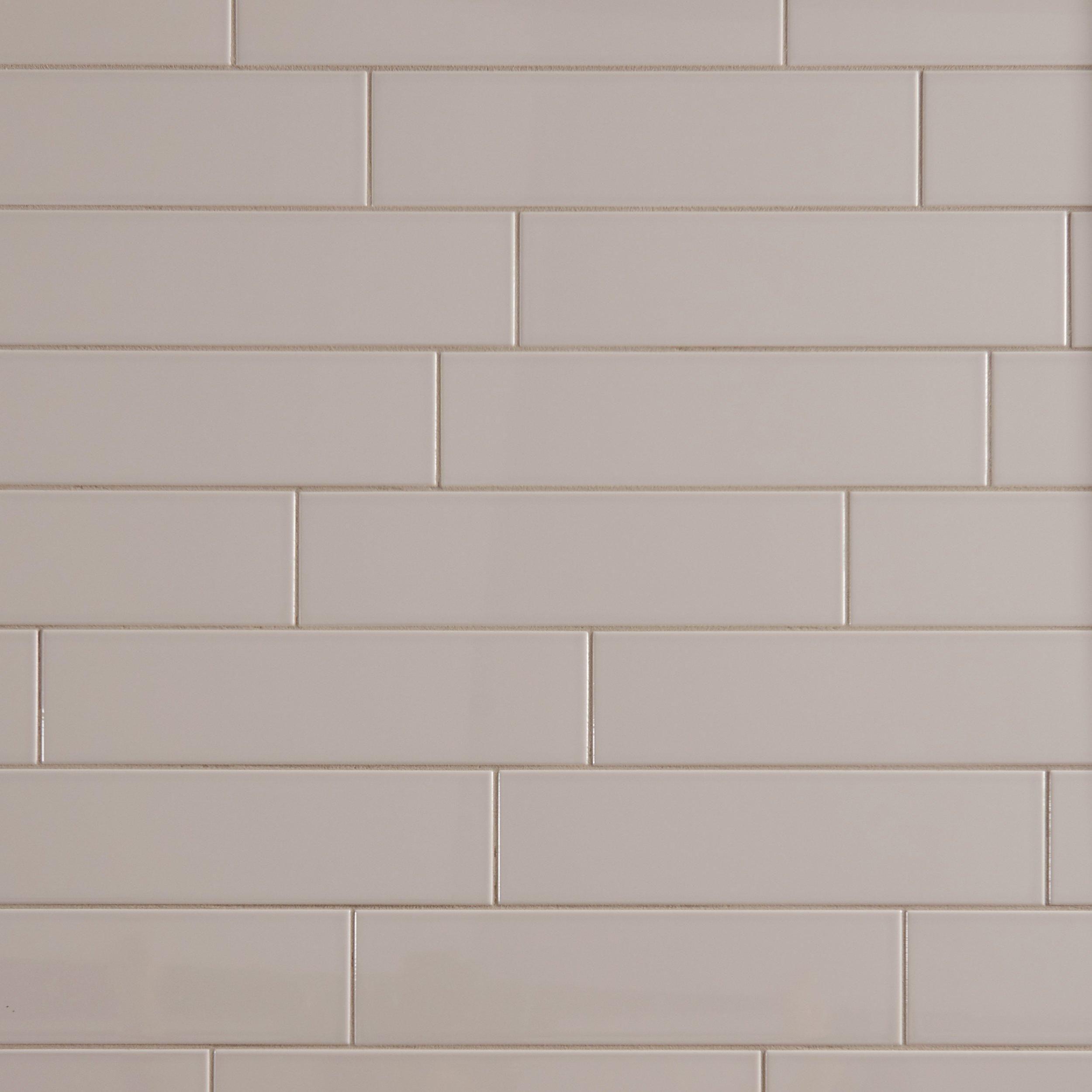 Metro Gray Glossy Ceramic Tile Deron Backsplash Pinterest Gray