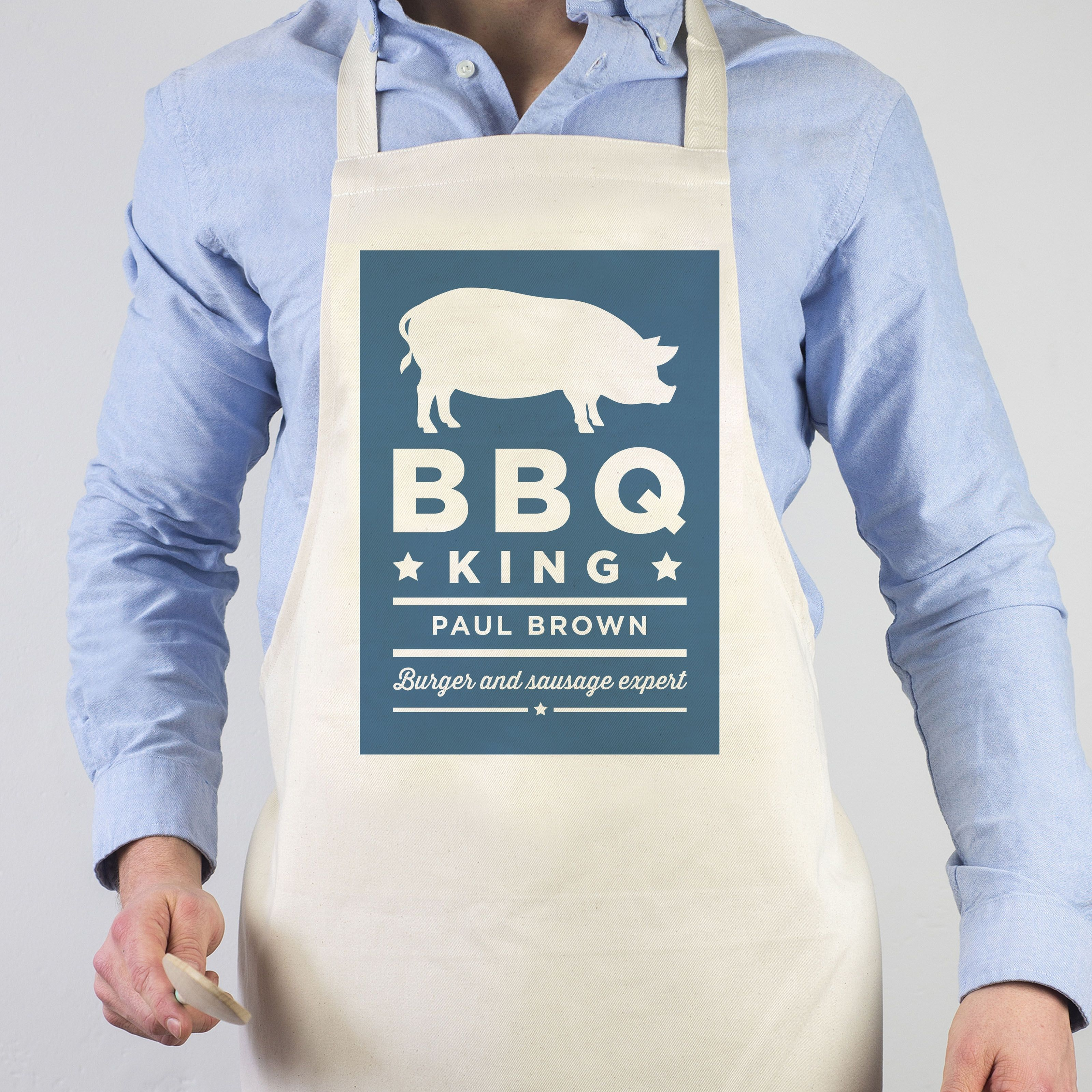 King Aprons Of The Grill Apron, BBQ - Funny For Men Dad