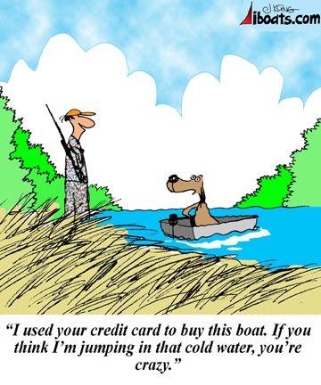 Boat Cartoon Iboats Com Fishing Humor Fishing Jokes Hunting Humor