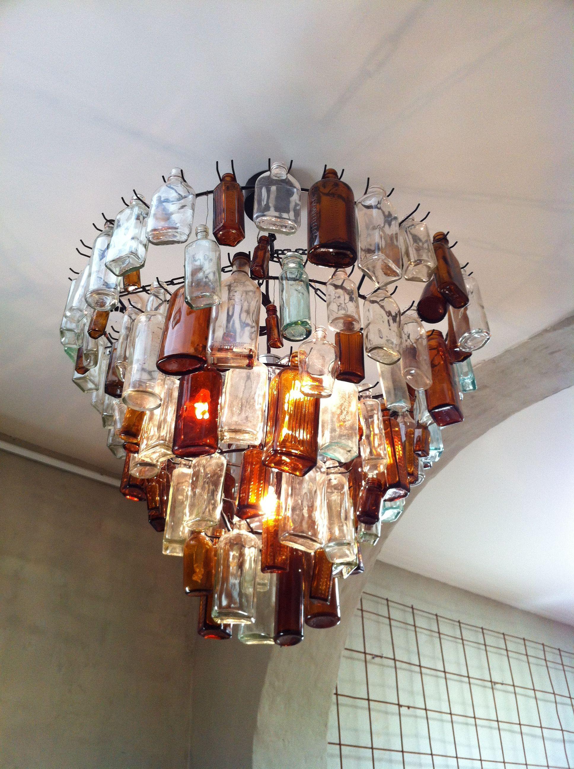 Awesome chandelier ethos cafe hobart diy crafty clever awesome chandelier ethos cafe hobart arubaitofo Gallery