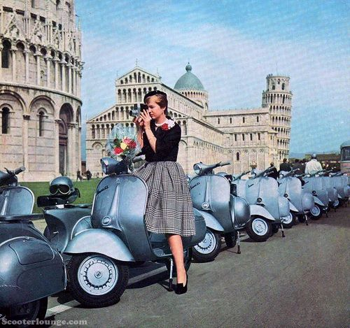 #motorscooter #vehicle #transport #vintage #retro #1920s #1930s #1940s #1950s #1960s #1970s