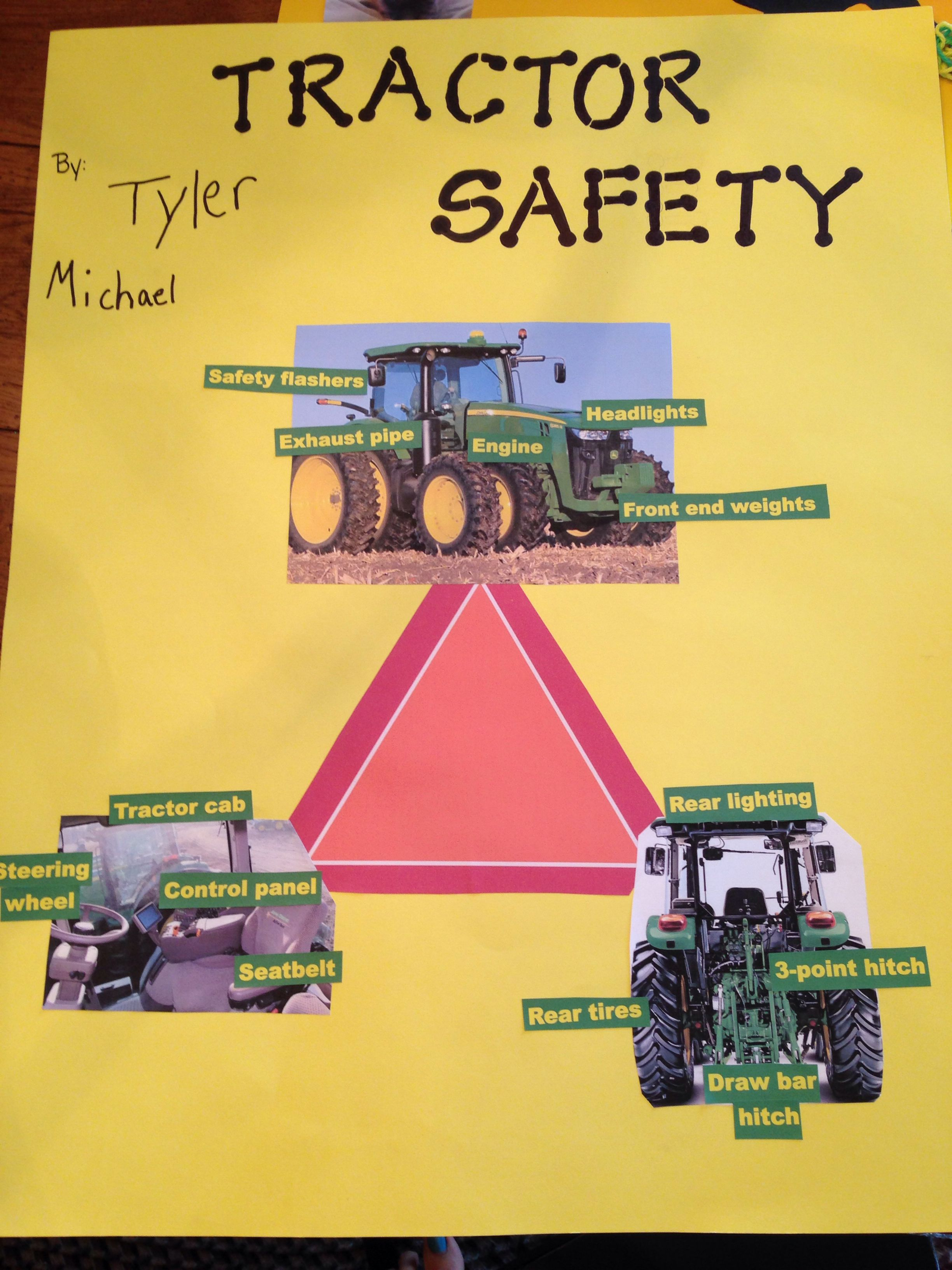 Tractor Safety Poster Safety posters, Projects for kids