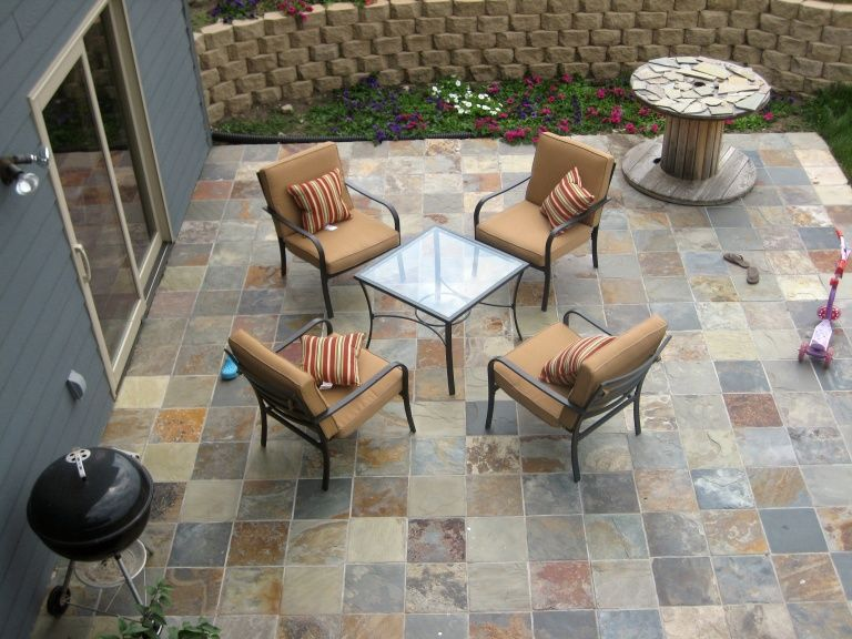 I Think It Is Time To Get Rid Of The Plain Concrete Patio And Walkway. Patio  TilesSlate PatioOutdoor ...