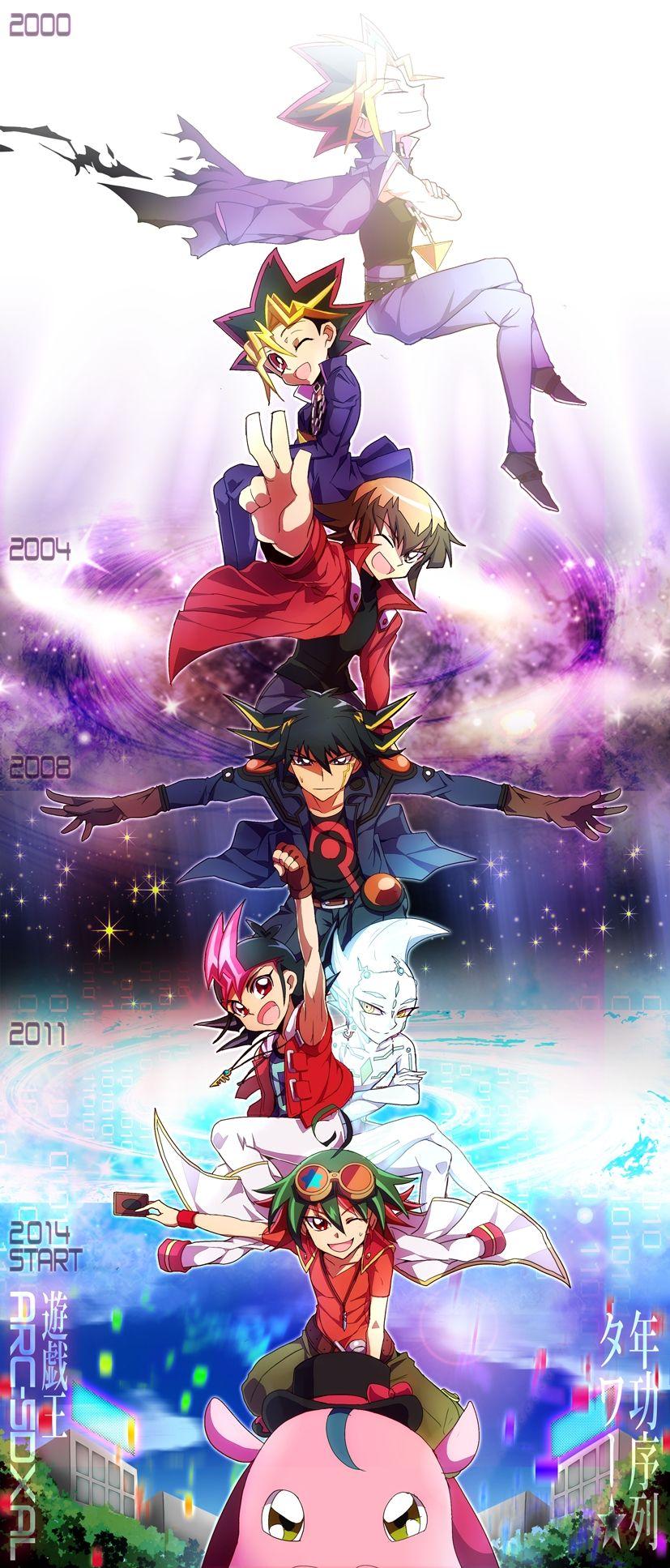 YuGiOh! Jaden, Yusei, Atem, Yuma, Yugi, Astral, Yuya
