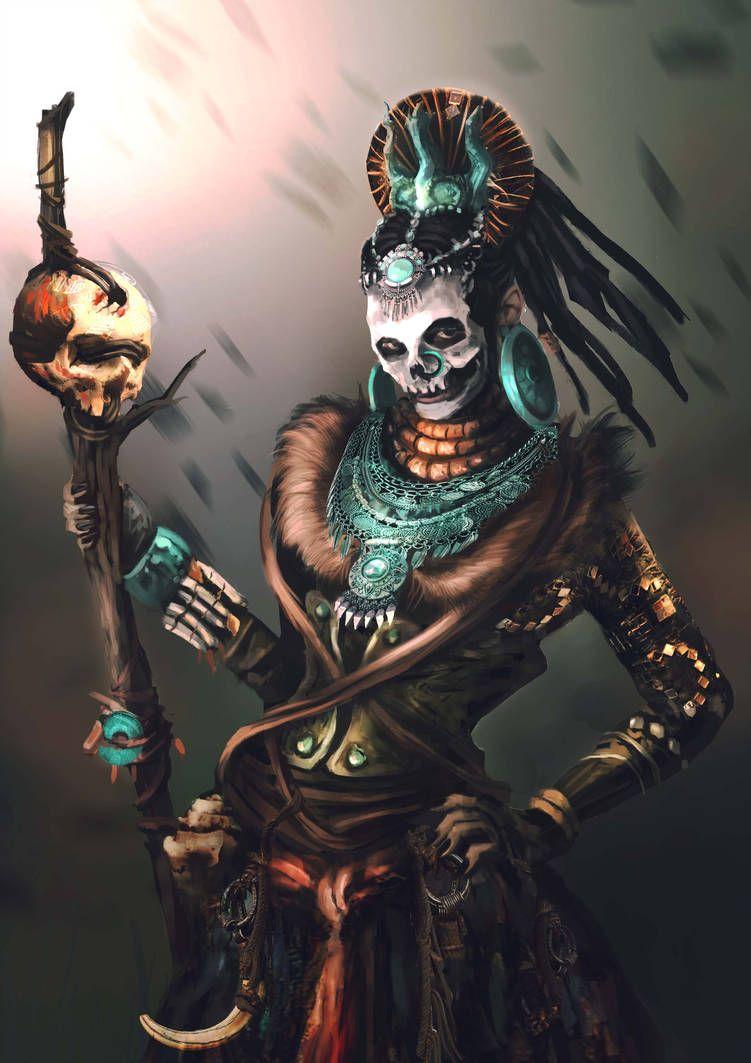 Voodoo Priest by https://www.deviantart.com/ingasiebert on @DeviantArt |  Imagenes de dioses aztecas, Dioses aztecas, Aztecas dibujos