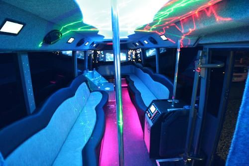 Inside A Party Bus On Pinterest By Party Bus Rental Headquarters Buses Sin City And Black Lights