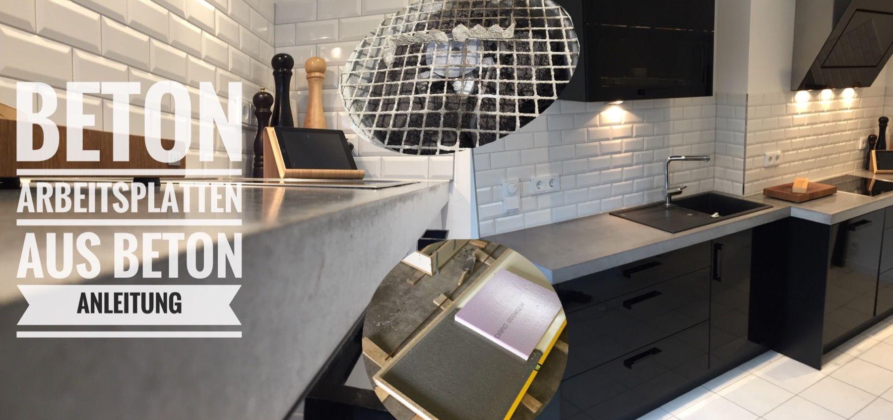 arbeitsplatten aus beton diy bigmeatlove k che arbeitsplatte k che und beton diy. Black Bedroom Furniture Sets. Home Design Ideas
