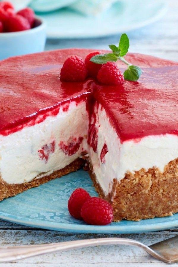 Himbeer Schmand Torte Ganz Ohne Backofen Bildderfrau De In 2021 Kuchen Und Torten Kuchen Rezepte Einfach Kuchen Und Torten Rezepte