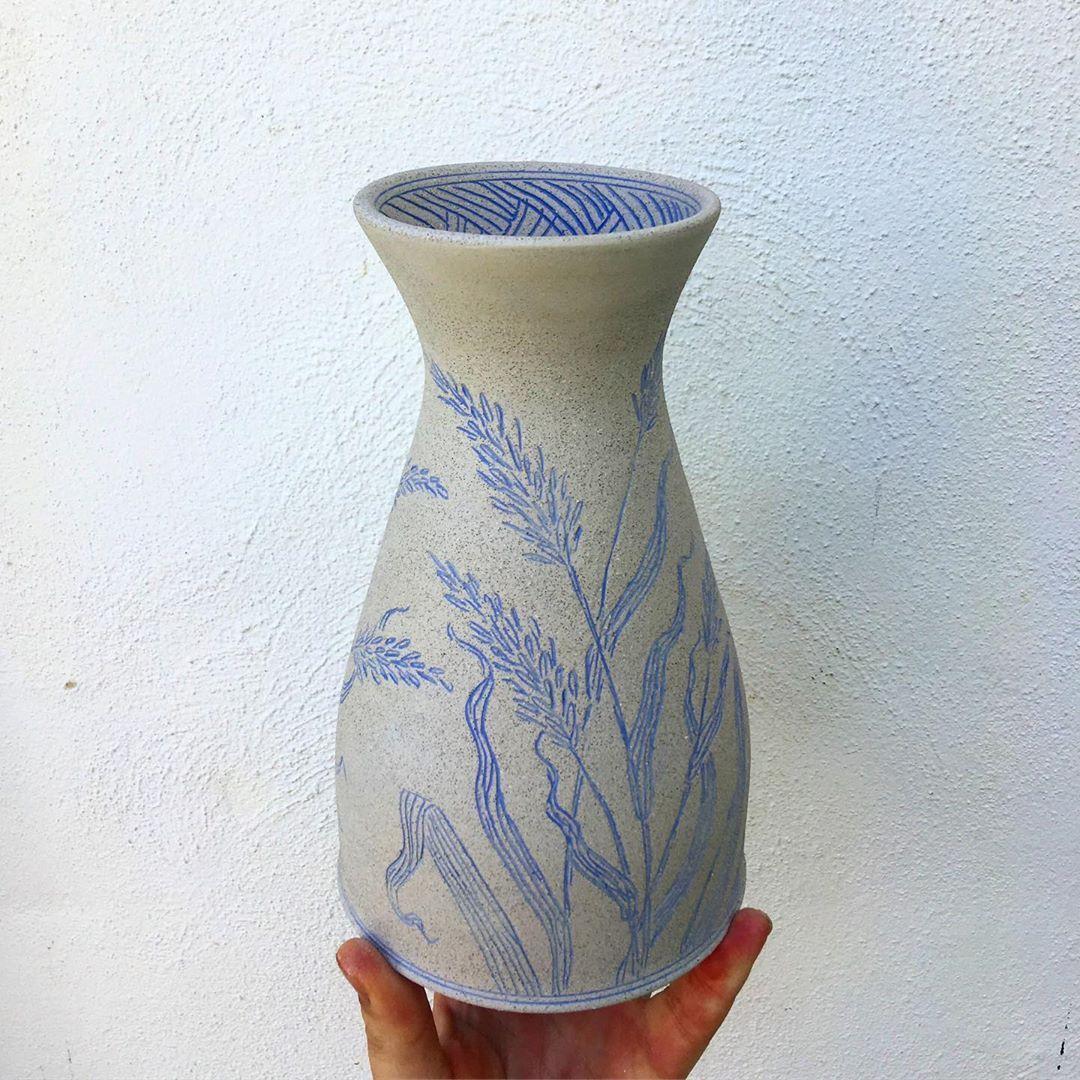 "Ayla Mullen on Instagram: ""New wild grass vases in the works! 🌾🌾🌾 • • • • • • • • • • #ceramics #botanicalceramics #contemporaryceramics #aylamullen #pottery…"""