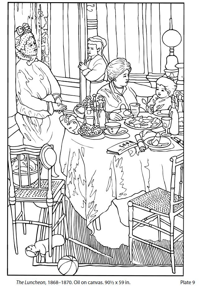 Dover Masterworks: Color Your Own Monet Paintings Dover Publications ...