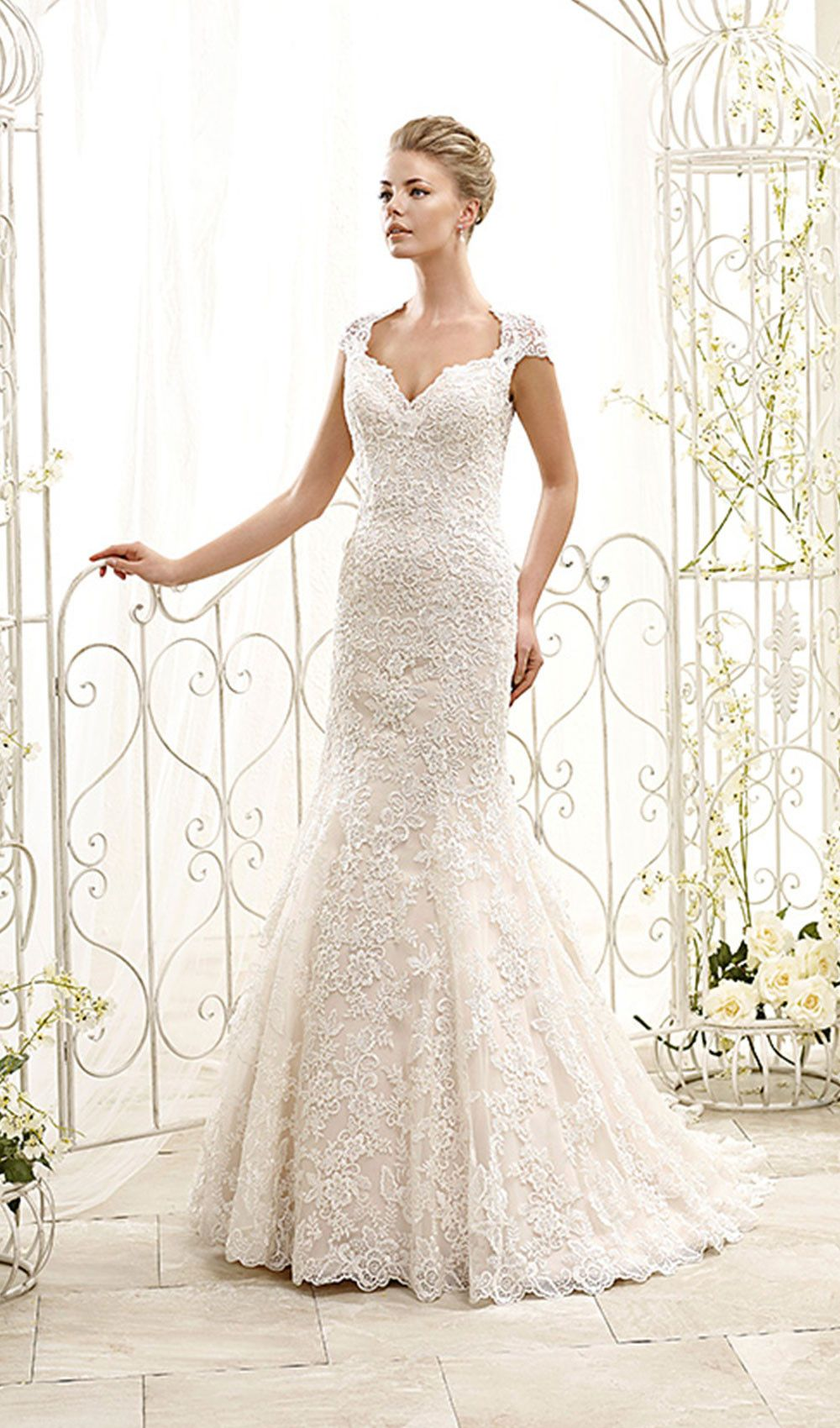 Try This Breathtaking Elegant Lace Wedding Dress With Incredible Back And Cap Sleeves From Eddy K Bridal Available At Schaffers In Scottsdale Arizona