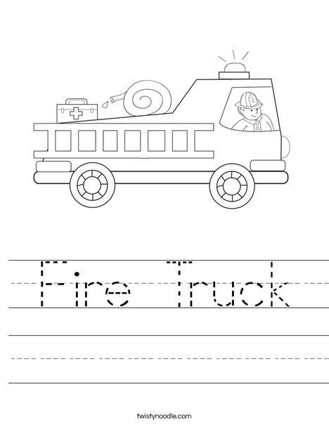 Fire Truck Coloring Pages With Firefighter Worksheet Fire Safety
