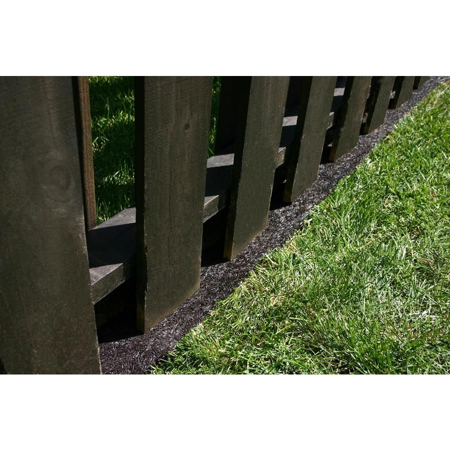 Rubberific 8 Rubber Edging At Lowes Com Keeps Neighbors Weeds From Coming Through Fencing Landscape Edging Landscape Borders Landscaping Along Fence