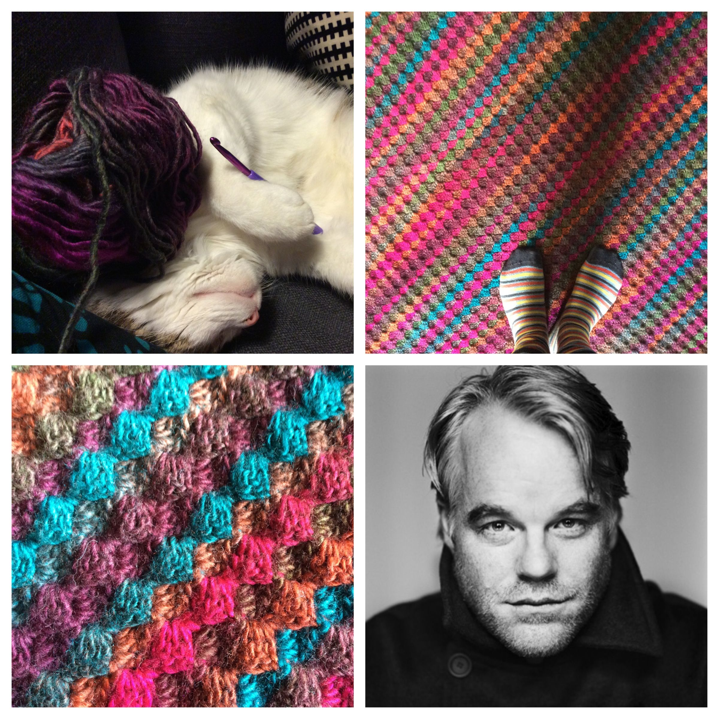 a C2C crochet blanket called Philip Seymour Hoffman x https://www ...