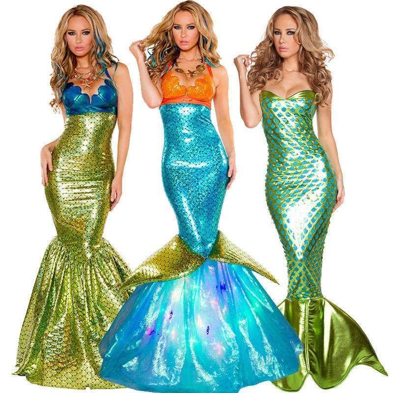 Mermaid Fins Under Sea Fancy Dress Up Halloween Adult Costume Accessory 2 COLORS