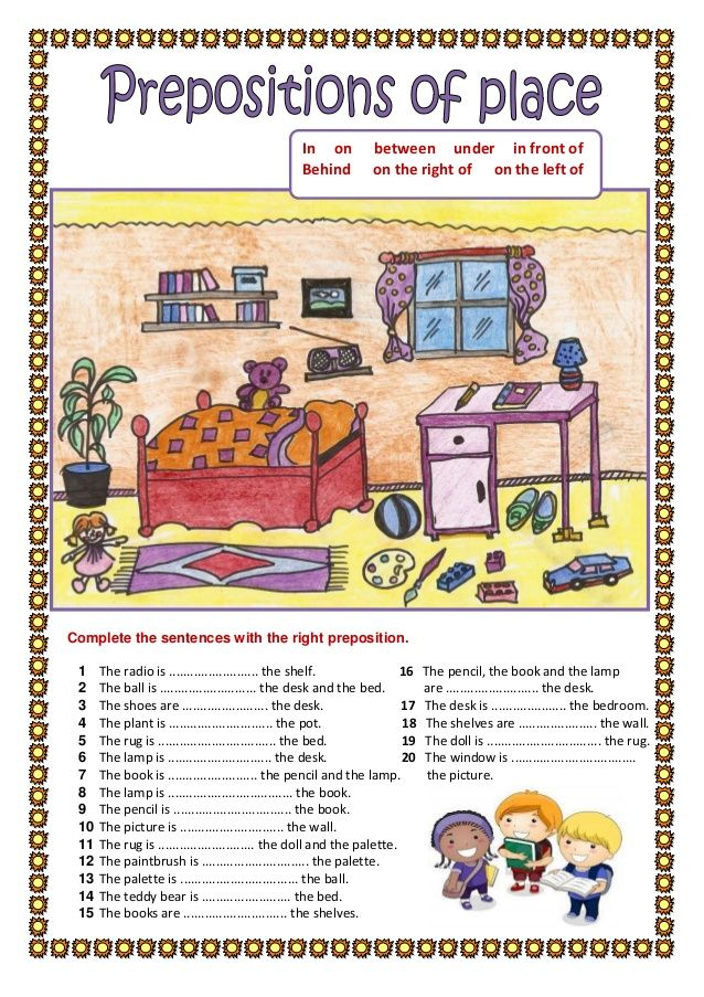 prepositions of_place_2 crafts English prepositions