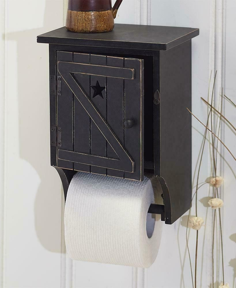 This Bathroom Tissue Holder Gets Its Rustic Charm From The Traditional Country Outhouse Moun Bathroom Tissue Holder Bathroom Furniture Storage Bathroom Tissue